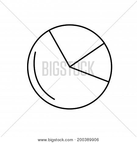 line statistics diagram graphy to business presentation vector illustration