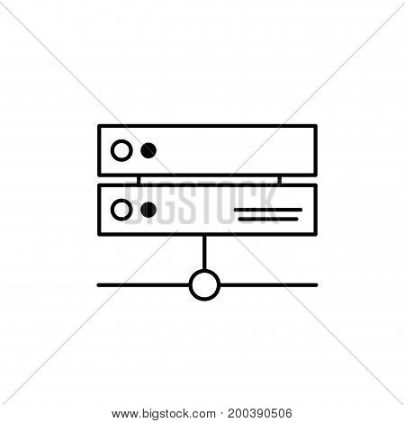 line database technology system information service vector illustration