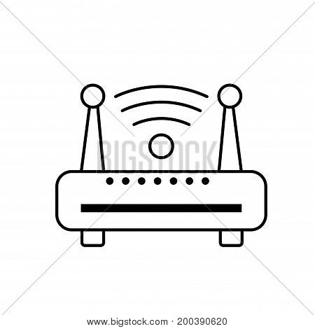 line router wifi connection network technology vector illustration