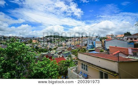 Cityscape Of Downtown In Dalat, Vietnam