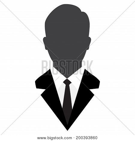 Male avatar in business suit User Icon iconic symbol on white background - Vector Iconic Design.