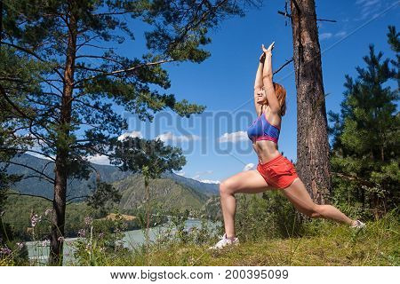 Woman Makes Stretching