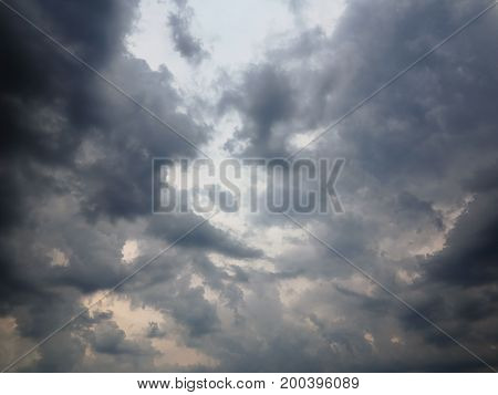 Abstract image of the dark rainy clouds