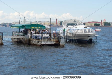 ST. PETERSBURG, RUSSIA - JULY 30, 2017: The hydrofoil ship