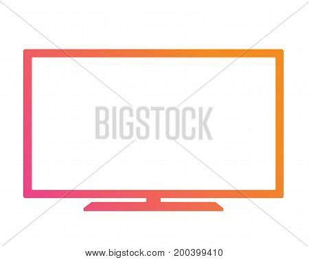 The Colorful gradient pink to orange OLED black flat smart wide TV icon