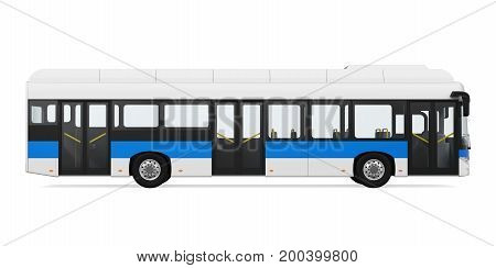 City Bus isolated on white background. 3D render