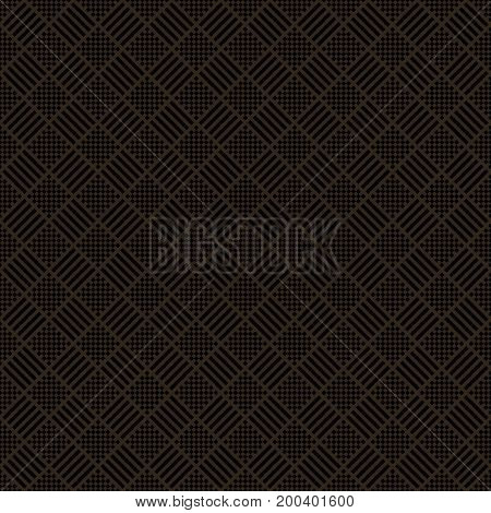 Plaid seamless pattern. Classical tablecloth texture. Checkered fabric background. Regularly repeating geometric tiles with small rhombuses strips. Vector element of graphical design