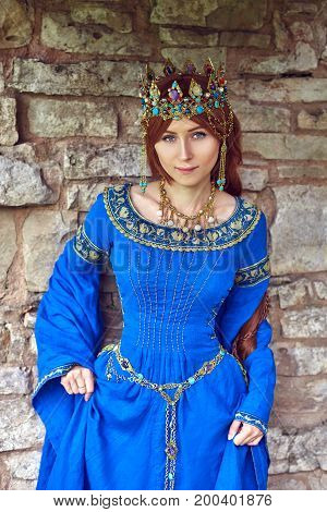 Beautiful Eleanor of Aquitaine duchess and queen of England and France on High Middle Ages. Mother of Richard the Lionheart.