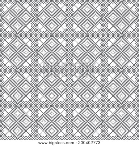 Vector seamless pattern. Trendy modern texture with constant repetition of rhombuses diamonds. Regularly repeating tiles. Geometrical textured background. Contemporary design.