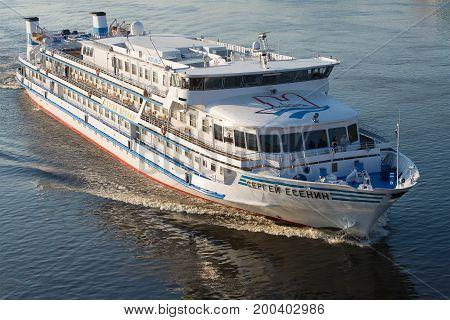 RYBINSK, RUSSIA - JULY 16, 2017: Cruise motor ship