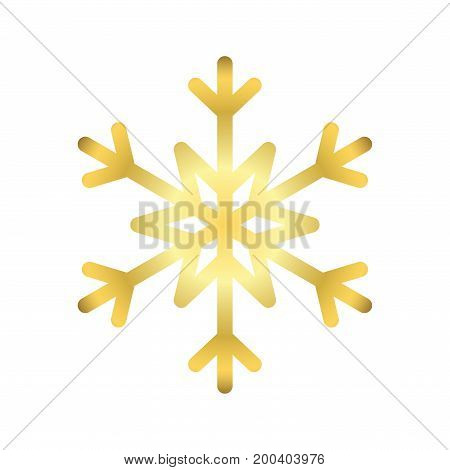 Christmas Snowflake Isolated Illustration