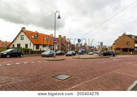 Zandvoort, Netherlands June 10. 2017: Architecture and streets of the old city. Zandvoort is a main sea resort and touristic center