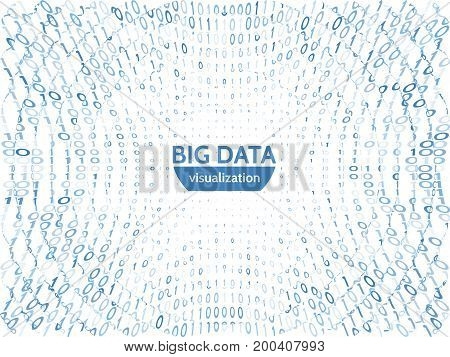 Abstract business data visualization. Futuristic information transfer concept. Visual data complexity. Futuristic infographic vector illustration.