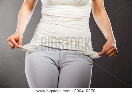 Girl Showing Empty Pockets