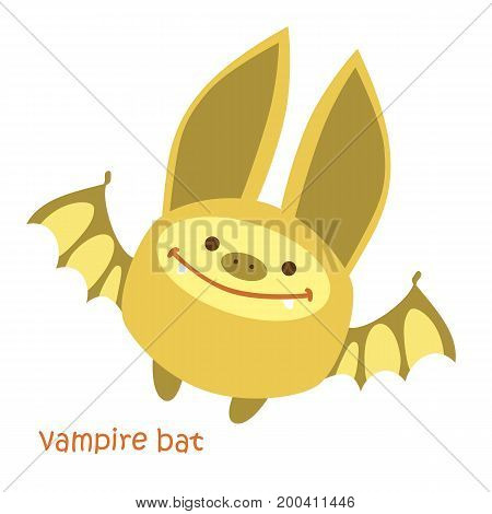 Bat isolated. Drawing bat for a child