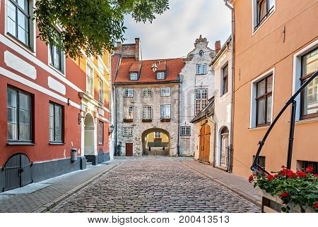 Swedish gate is a famous medieval architectural ensemble in old Riga city. Old Riga city offers for tourists the unique Gothic and medieval architecture