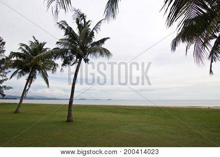 Kota Kinabalu beach in Sabah. Kota Kinabalu