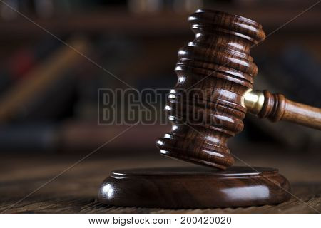 Law concept. Gavel in the lawyer office.