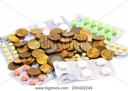 Russian melallic ruble and tablet drugs as an element of health