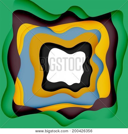 3d abstract background with cut shapes, business presentation, flyer template