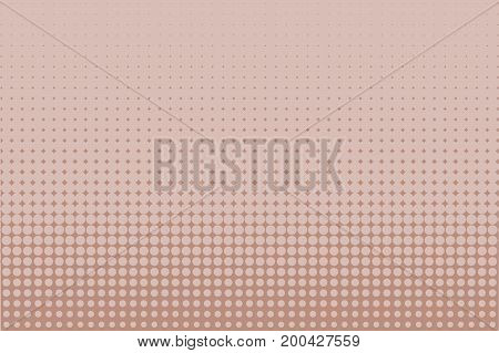 Comic background. Monochrome halftone background. Light brown, pink-beige, cream color. Pannels with dots, points, circles, rounds. Design element for web banners, posters, cards, wallpaper, sites.