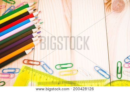 School Supplies - A Place For Your Inscription.