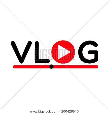 Vlog video blogging concept logo streaming  symbol  recording  video  symbol
