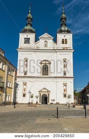 Baroque church of Ignatius Loyola by Carlo Lurago and Martino Lurago from the 17th century. Breznice, Czech Republic