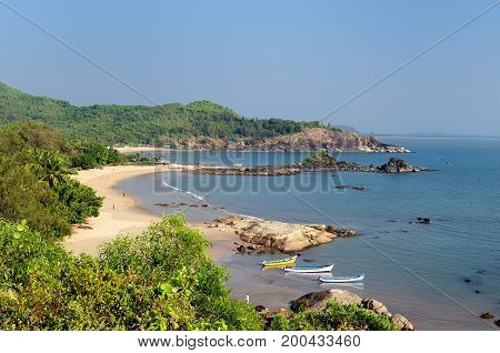 India The most beautifull beach in India near Gokarna city. Karnataka state