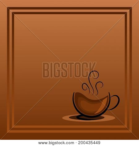 There is always time for coffee .A cup of coffee .Coffee background with a coffee cup for cafe..Coffee banner for coffee break time.