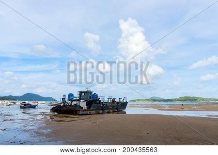 Boats on the beach in rawai beach phuket thailand