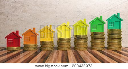 Energy Efficiency And Save Money Concept. 3D Illustration
