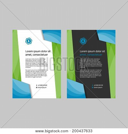 modern corporate style blank template on white and black background