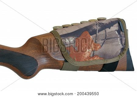 Rifle Buttstock Cartridge Holder, close-up, isolated background
