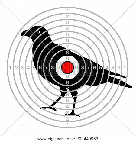 target shooting ,  bird in a dash
