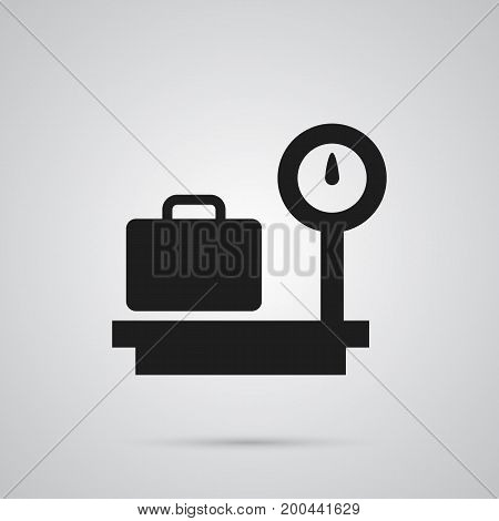 Vector Weighing Element In Trendy Style.  Isolated Scale Icon Symbol On Clean Background.