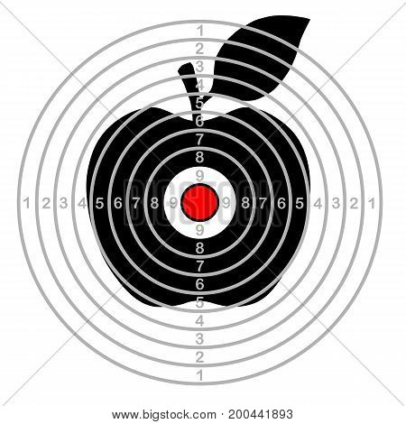 Target shooting,  apple in centre , vector