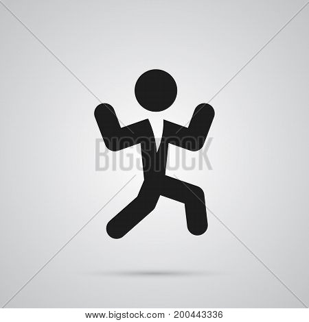 Isolated Dancing Man Icon Symbol On Clean Background