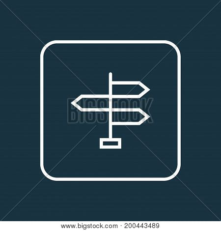 Premium Quality Isolated Direction  Element In Trendy Style.  Signpost Outline Symbol.