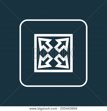 Premium Quality Isolated Enlarge Element In Trendy Style.  Widen Outline Symbol.