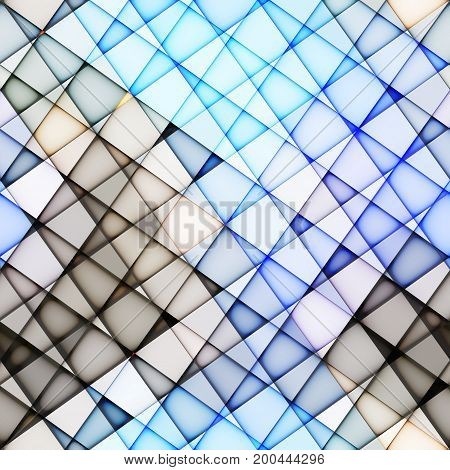 Seamless background. Light blue abstract diagonal pattern in a lowpoly style.