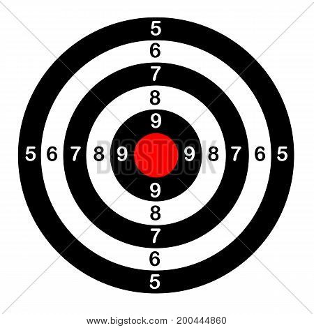 Target for shooting , vector , sport tools