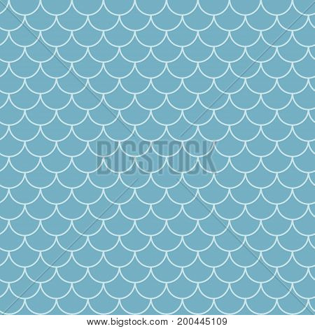 Fish scale seamless pattern. Reptile, dragon skin texture. Tillable background for your fabric, textile design, wrapping paper, swimwear or wallpaper. Blue mermaid tail with fish scale underwater. poster