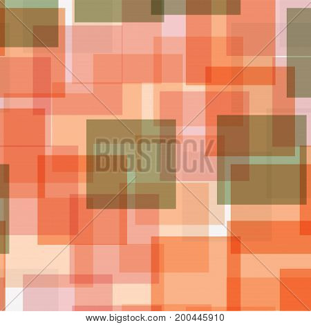 Abstract Squares Pattern. White Geometric Background. Gorgeous Random Squares. Geometric Chaotic Dec