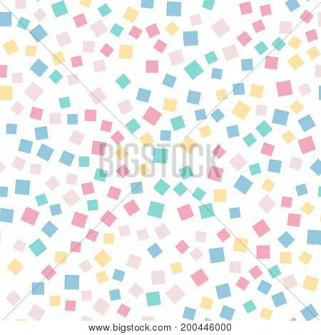 Abstract Squares Pattern. White Geometric Background. Admirable Random Squares. Geometric Chaotic De