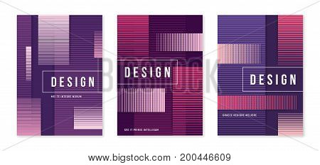 Modern abstract geometric a4 size cover designs for brochure magazine flyer report catalog. Vector illustraion