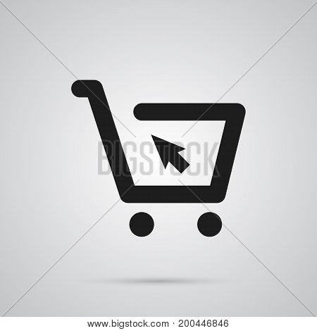 Isolated Online Shopping Icon Symbol On Clean Background