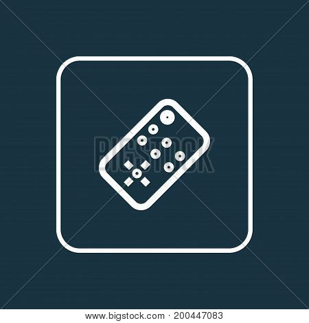 Premium Quality Isolated Controller Element In Trendy Style.  Remote Outline Symbol.