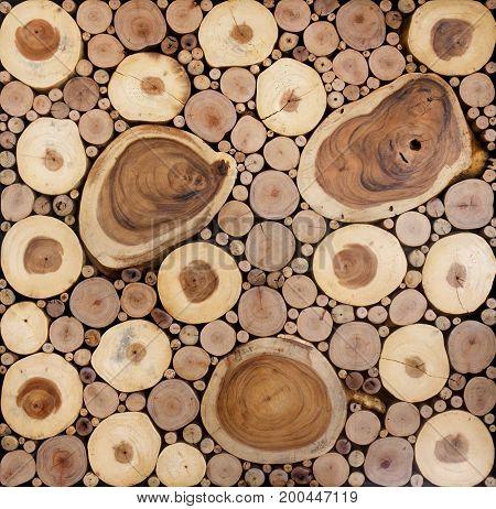 Texture Pattern Of Round Teak Wood Stump Circle Background
