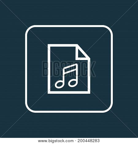 Premium Quality Isolated Soundtrack Element In Trendy Style.  Play List Outline Symbol.